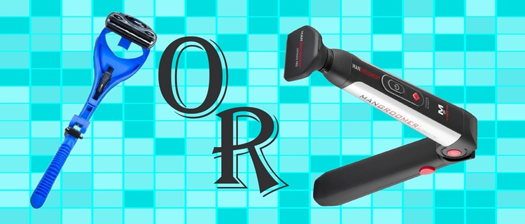 Electric or manual back shaver