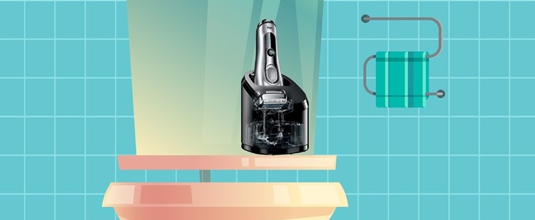 foil shaver clean and charge station