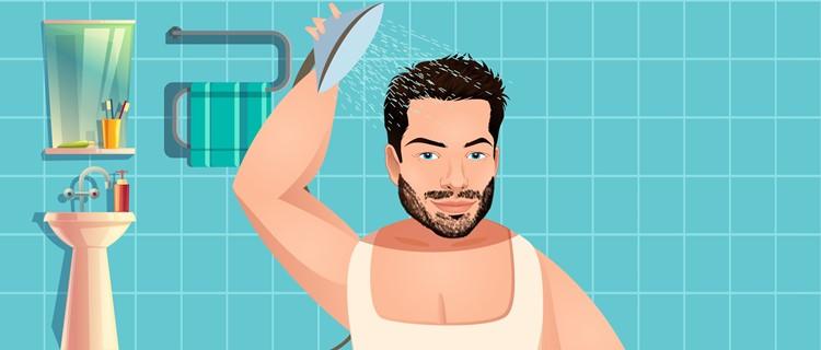 Rinse before shaving head