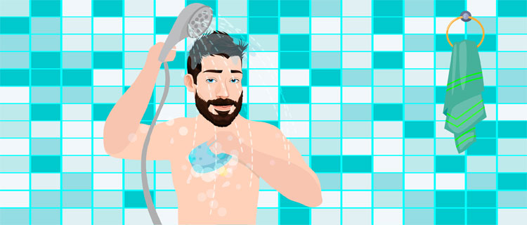 Step 1 – Clean yourself with a hot shower & properly dry up
