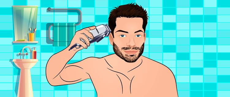 Move your clipper against the growth of the hair