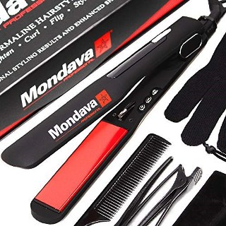 Mondava Professional Ceramic Tourmaline Flat Iron Hair Straightener