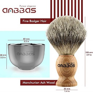 Anbbas 3in1 Pure Badger Hair Shaving Brush