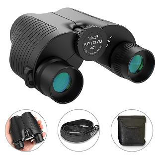 Compact 10x25 Binoculars for Adults and Kids