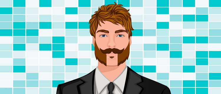 Handlebar with Parted Beard