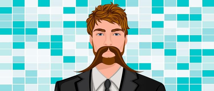 Long Mane Handlebar Mustache