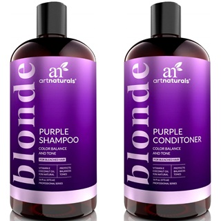 ArtNaturals Purple Shampoo and Conditioner Set
