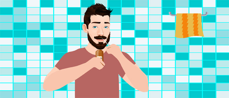 Add a beard wash product or oil onto your beard