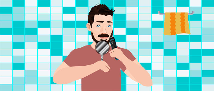 Use the base of your trimmer when you're trying to shave off anything